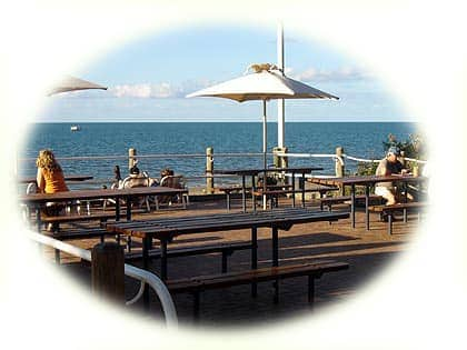 Coffee and cake at the Aquavue Cafe overlooking beautiful Hervey Bay