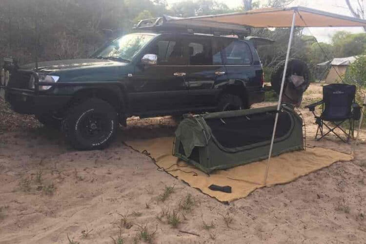 beach front camping