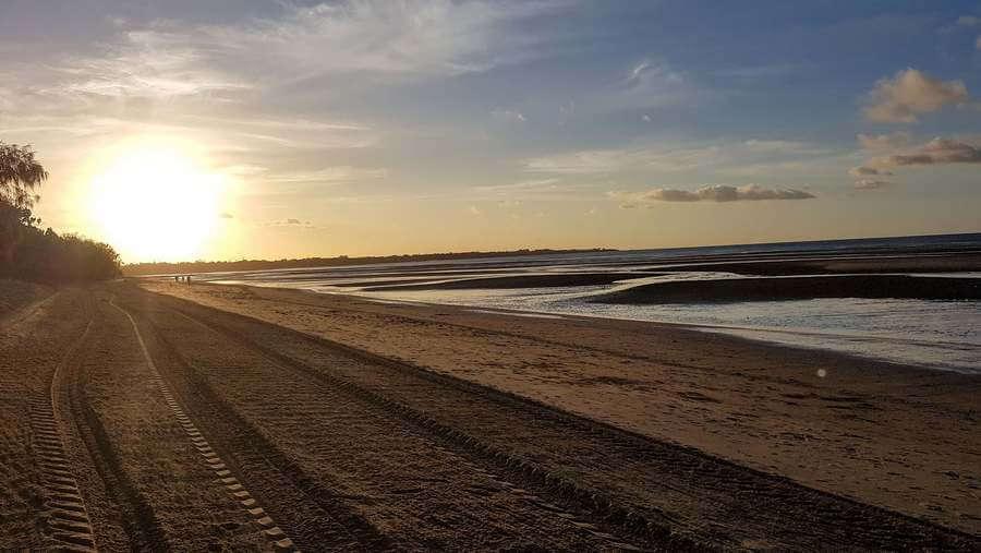 Sunset From Pialba Beach Hervey Bay