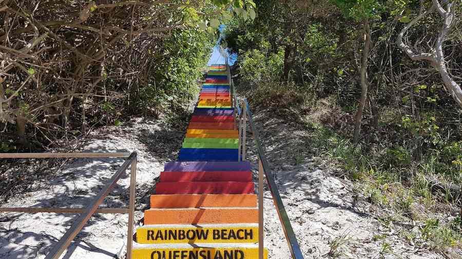 rainbow beach steps